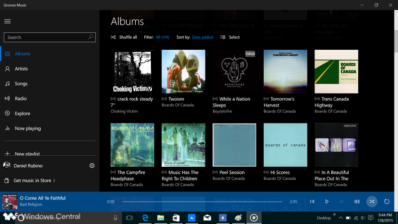Groove Music is here for Windows 10 and MSN Weather ditches ads   Windows  Central