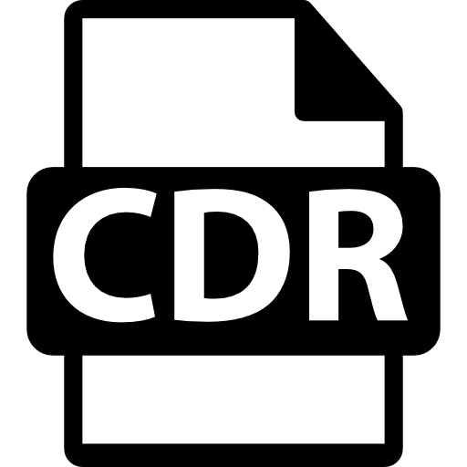 CDR file format extension - Free interface icons