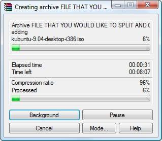 Create RAR archive